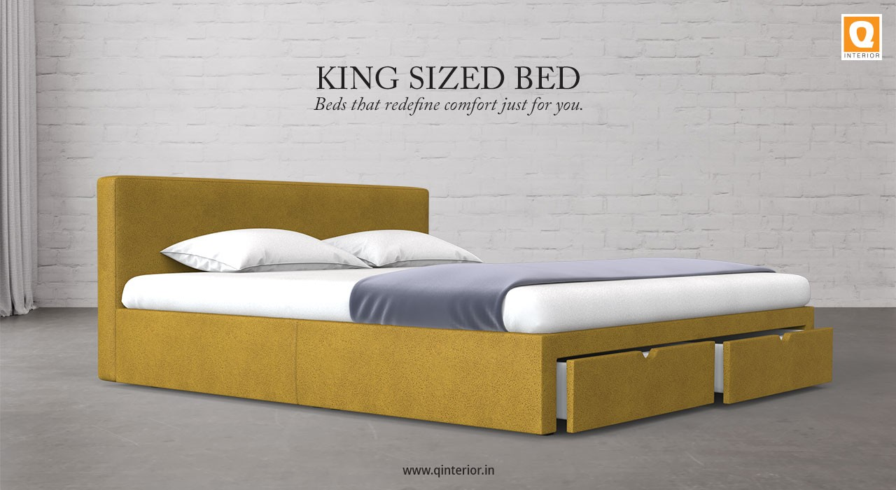 Picture of: Buy King Size Bed Online King Bed With Storage For Your Bedroom