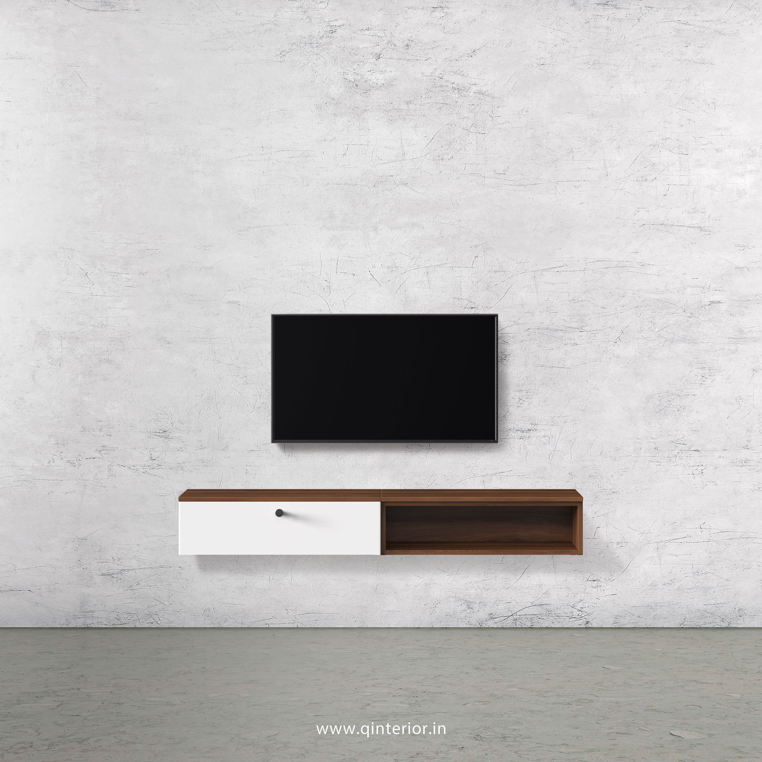 Lambent TV Wall Unit in Walnut and White Finish – TVW002 C18