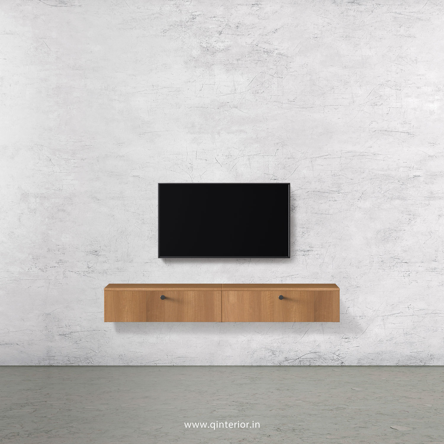 Stable TV Wall Unit in Oak Finish – TVW001 C2