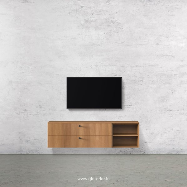 Stable TV Wall Unit in Oak Finish – TVW005 C2