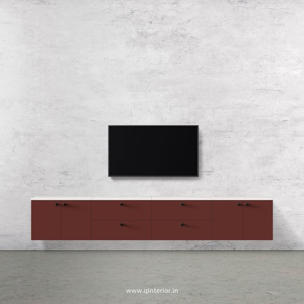 Lambent TV Wall Unit in White and Shangrila Finish – TVW010 C14