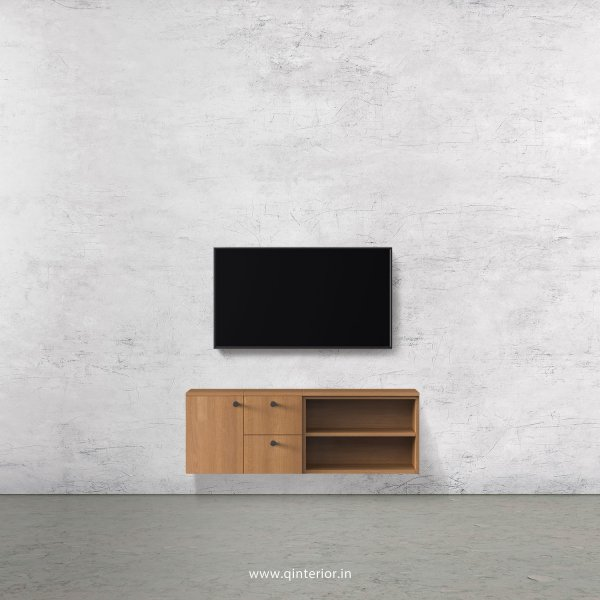 Stable TV Wall Unit in Oak Finish – TVW007 C2
