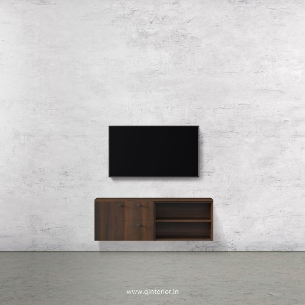Stable TV Wall Unit in Walnut Finish – TVW007 C1