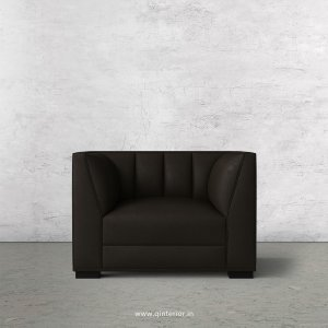 Amalia 1 Seater Sofa in Fab Leather Fabric - SFA006 FL11