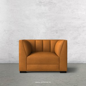 Amalia 1 Seater Sofa in Fab Leather Fabric - SFA006 FL14