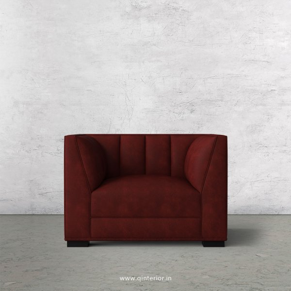 Amalia 1 Seater Sofa in Fab Leather Fabric - SFA006 FL17