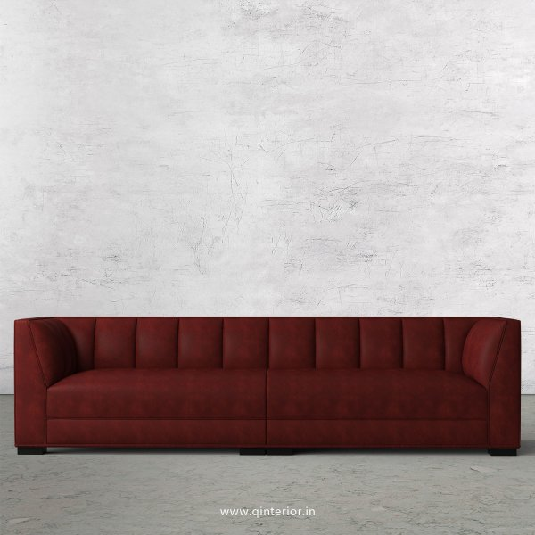 Amalia 4 Seater Sofa in Fab Leather Fabric - SFA006 FL17