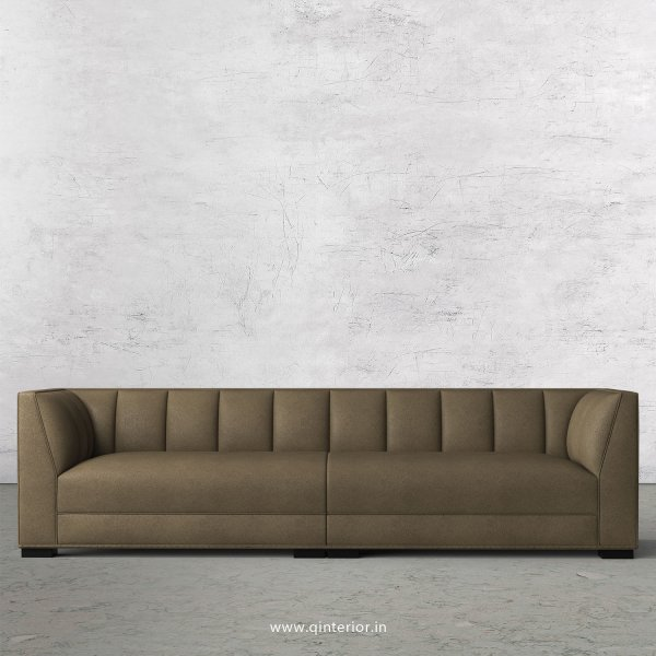 Amalia 4 Seater Sofa in Fab Leather Fabric - SFA006 FL06