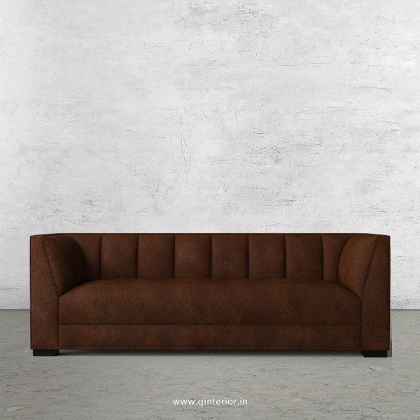 Amalia 3 Seater Sofa in Fab Leather Fabric - SFA006 FL09