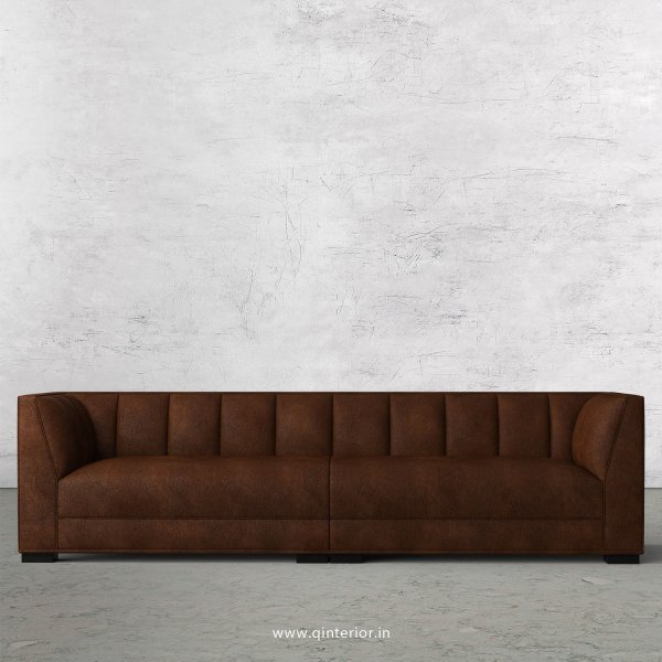 Amalia 4 Seater Sofa in Fab Leather Fabric - SFA006 FL09