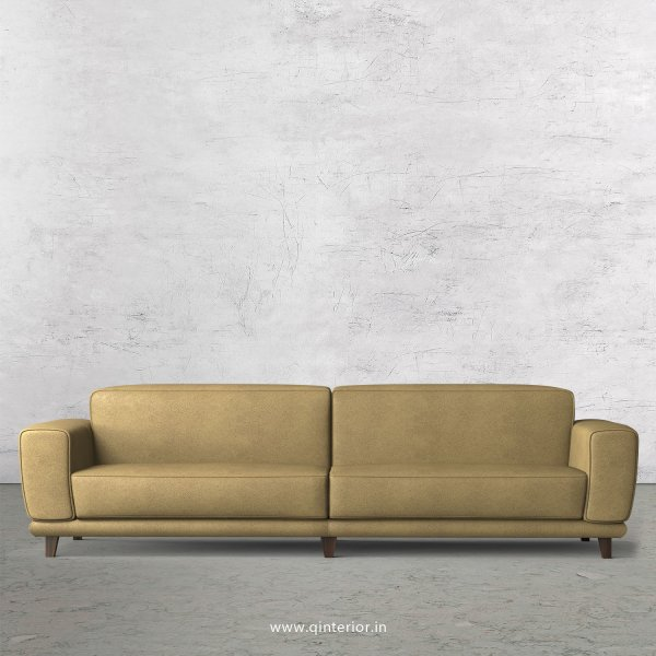 Avana 4 Seater Sofa in Fab Leather Fabric - SFA008 FL01