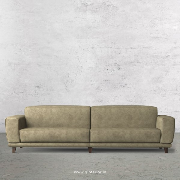 Avana 4 Seater Sofa in Fab Leather Fabric - SFA008 FL03
