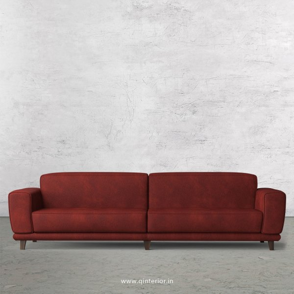 Avana 4 Seater Sofa in Fab Leather Fabric - SFA008 FL08