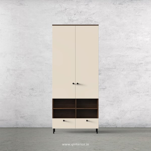 Lambent 2 Door Wardrobe in Walnut and Ceramic Finish – DWRD009 C7