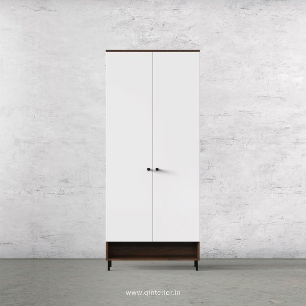 Lambent 2 Door Wardrobe in Walnut and White Finish – DWRD019 C18