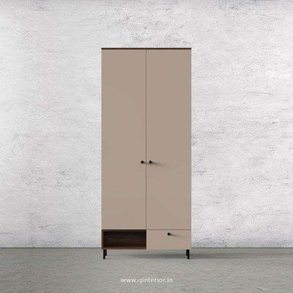 Lambent 2 Door Wardrobe in Walnut and Cappuccino Finish – DWRD023 C13