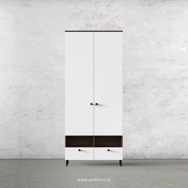 Lambent 2 Door Wardrobe in Walnut and White Finish – DWRD005 C18
