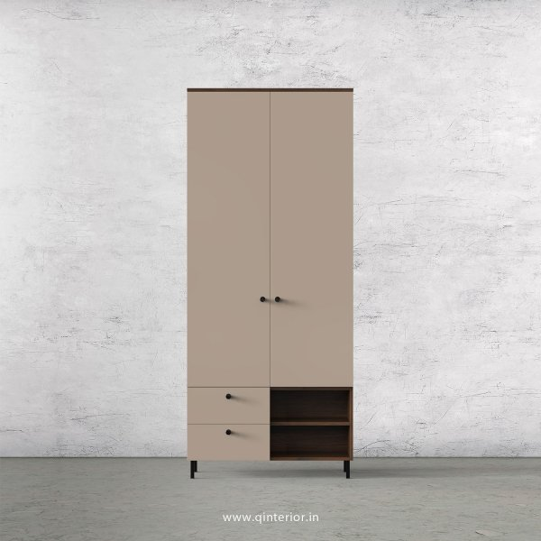 Lambent 2 Door Wardrobe in Walnut and Cappuccino Finish – DWRD029 C13