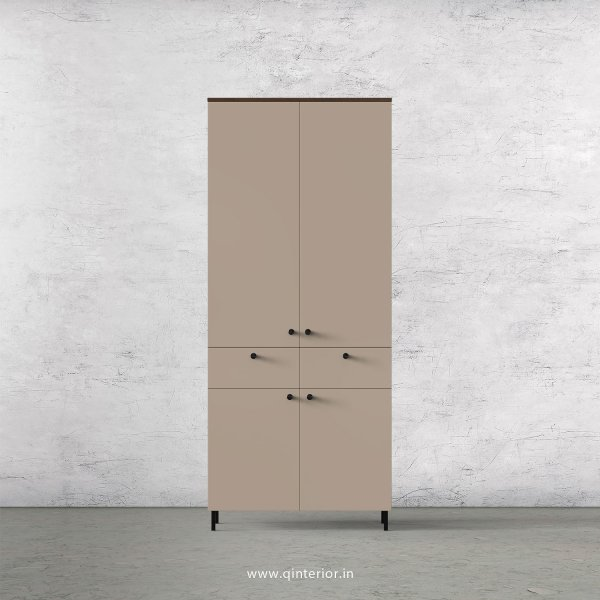 Lambent 2 Door Wardrobe in Walnut and Cappuccino Finish – DWRD014 C13
