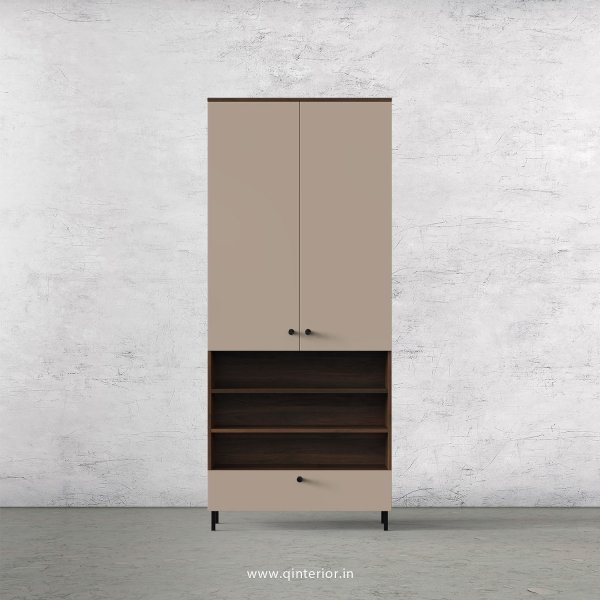 Lambent 2 Door Wardrobe in Walnut and Cappuccino Finish – DWRD055 C13