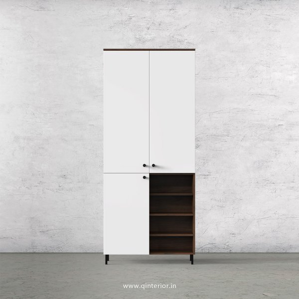 Lambent 2 Door Wardrobe in Walnut and White Finish – DWRD059 C18