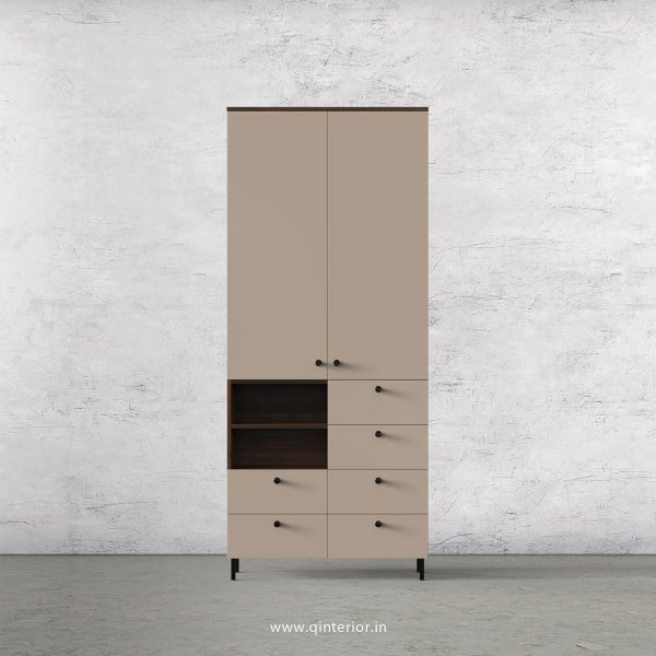 Lambent 2 Door Wardrobe in Walnut and Cappuccino Finish – DWRD065 C13