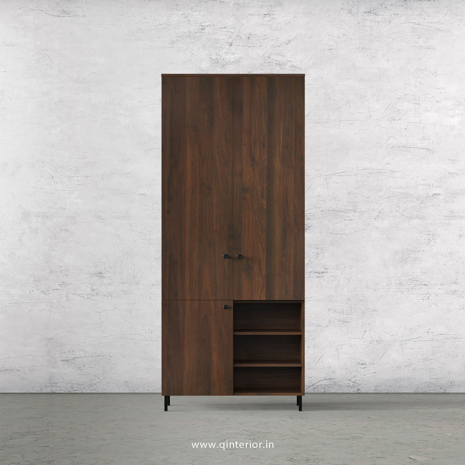 Stable 2 Door Wardrobe in Walnut Finish – DWRD038 C1