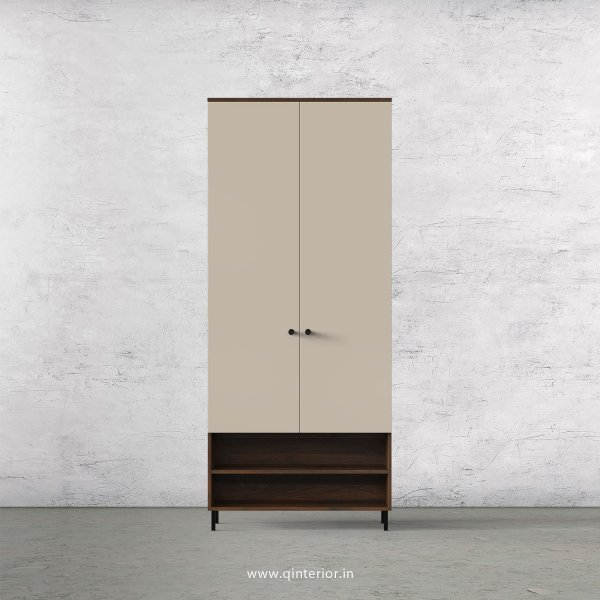 Lambent 2 Door Wardrobe in Walnut and Irish Cream Finish – DWRD024 C22