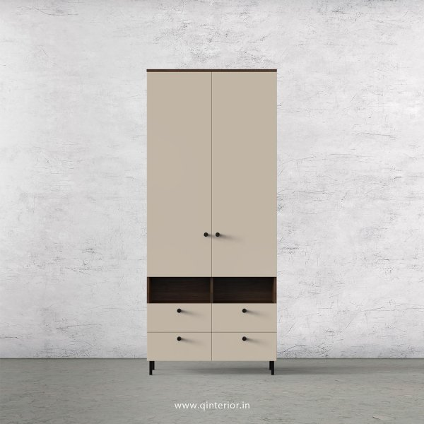 Lambent 2 Door Wardrobe in Walnut and Irish Cream Finish – DWRD008 C22