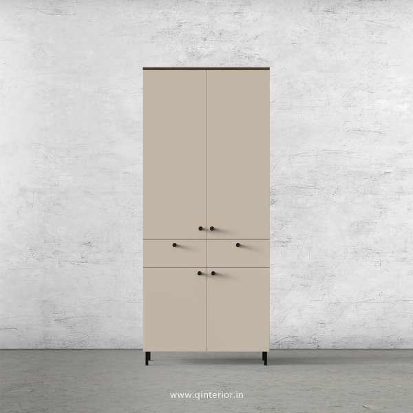 Lambent 2 Door Wardrobe in Walnut and Irish Cream Finish – DWRD014 C22