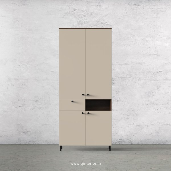 Lambent 2 Door Wardrobe in Walnut and Irish Cream Finish – DWRD017 C22