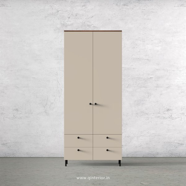 Lambent 2 Door Wardrobe in Teak and Irish Cream Finish – DWRD003 C11