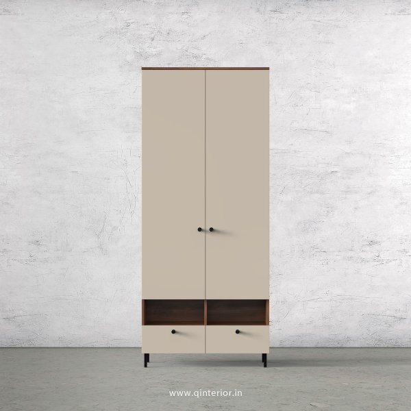 Lambent 2 Door Wardrobe in Teak and Irish Cream Finish – DWRD005 C11