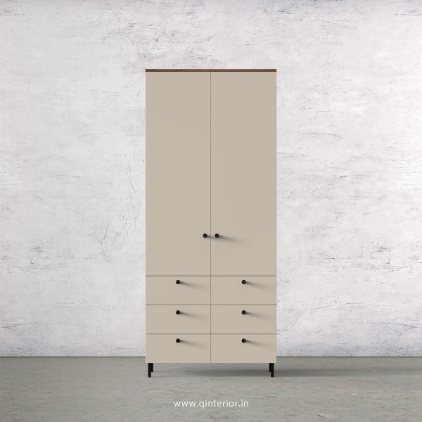 Lambent 2 Door Wardrobe in Teak and Irish Cream Finish – DWRD006 C11