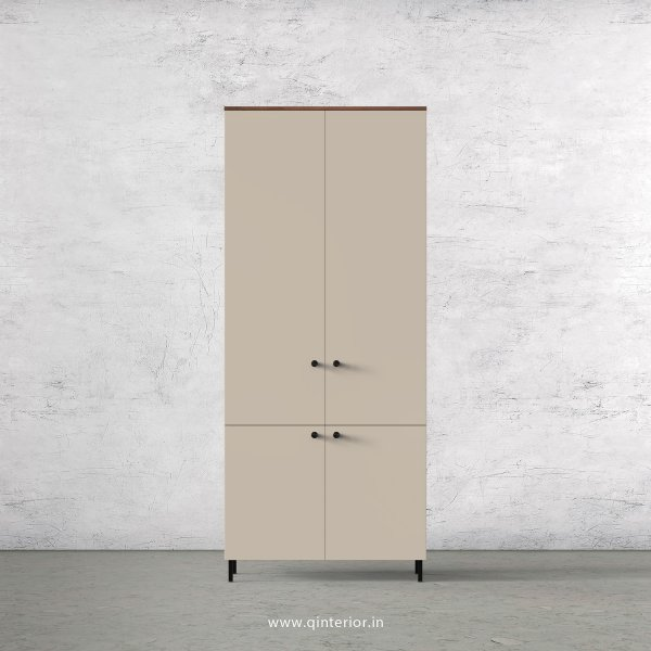 Lambent 2 Door Wardrobe in Teak and Irish Cream Finish – DWRD007 C11