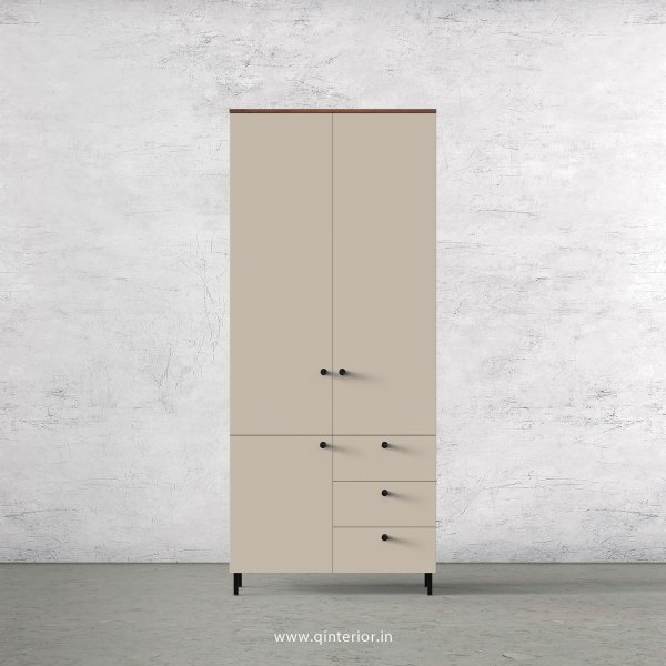 Lambent 2 Door Wardrobe in Teak and Irish Cream Finish – DWRD010 C11