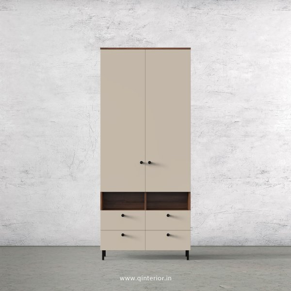 Lambent 2 Door Wardrobe in Teak and Irish Cream Finish – DWRD008 C11