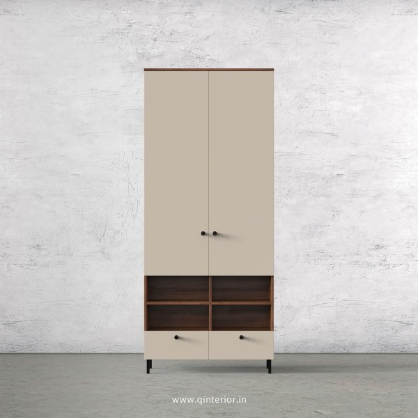 Lambent 2 Door Wardrobe in Teak and Irish Cream Finish – DWRD009 C11