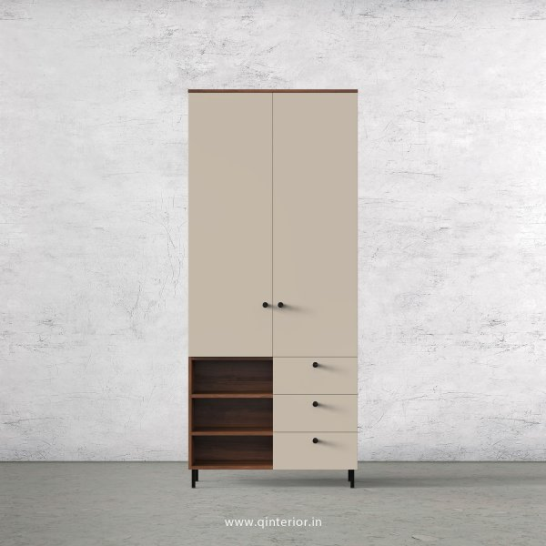 Lambent 2 Door Wardrobe in Teak and Irish Cream Finish – DWRD037 C11