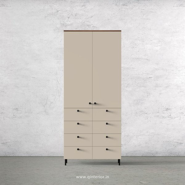 Lambent 2 Door Wardrobe in Teak and Irish Cream Finish – DWRD012 C11