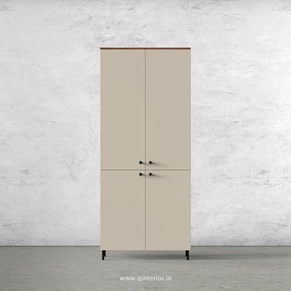 Lambent 2 Door Wardrobe in Teak and Irish Cream Finish – DWRD013 C11