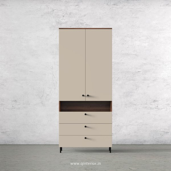 Lambent 2 Door Wardrobe in Teak and Irish Cream Finish – DWRD053 C11