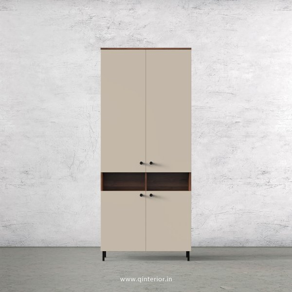 Lambent 2 Door Wardrobe in Teak and Irish Cream Finish – DWRD056 C11