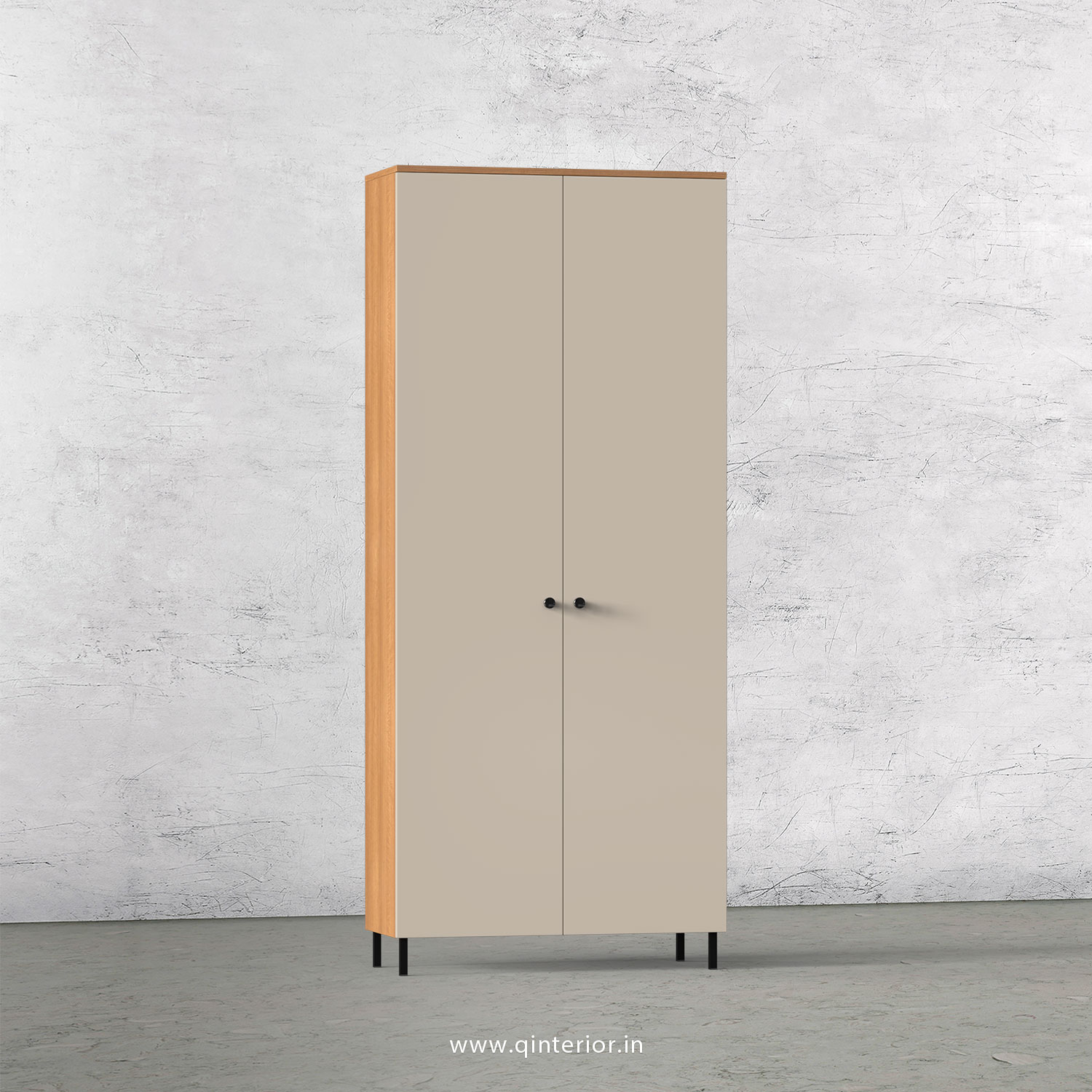 Lambent 2 Door Wardrobe in Oak and Irish Cream Finish – DWRD001 C21