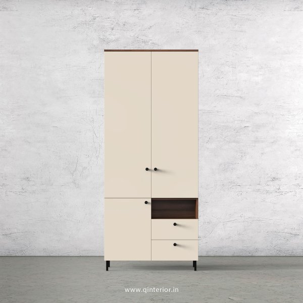 Lambent 2 Door Wardrobe in Teak and Ceramic Finish – DWRD011 C64