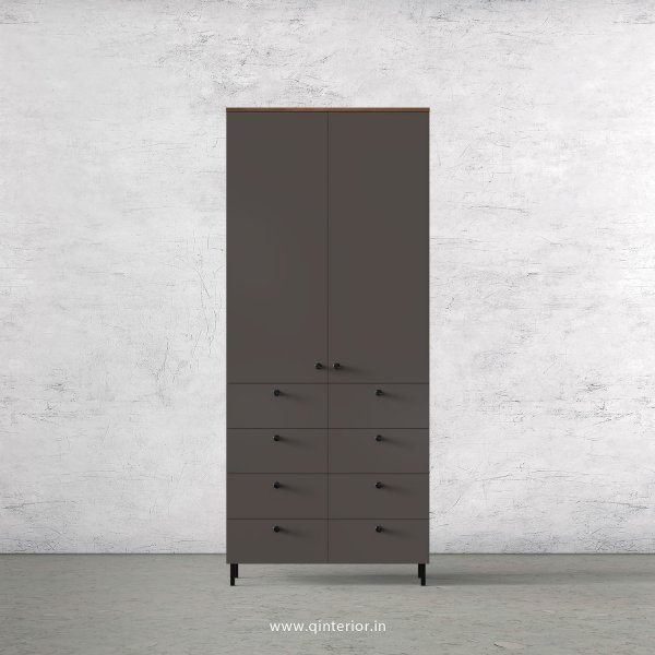 Lambent 2 Door Wardrobe in Teak and Slate Finish – DWRD012 C15