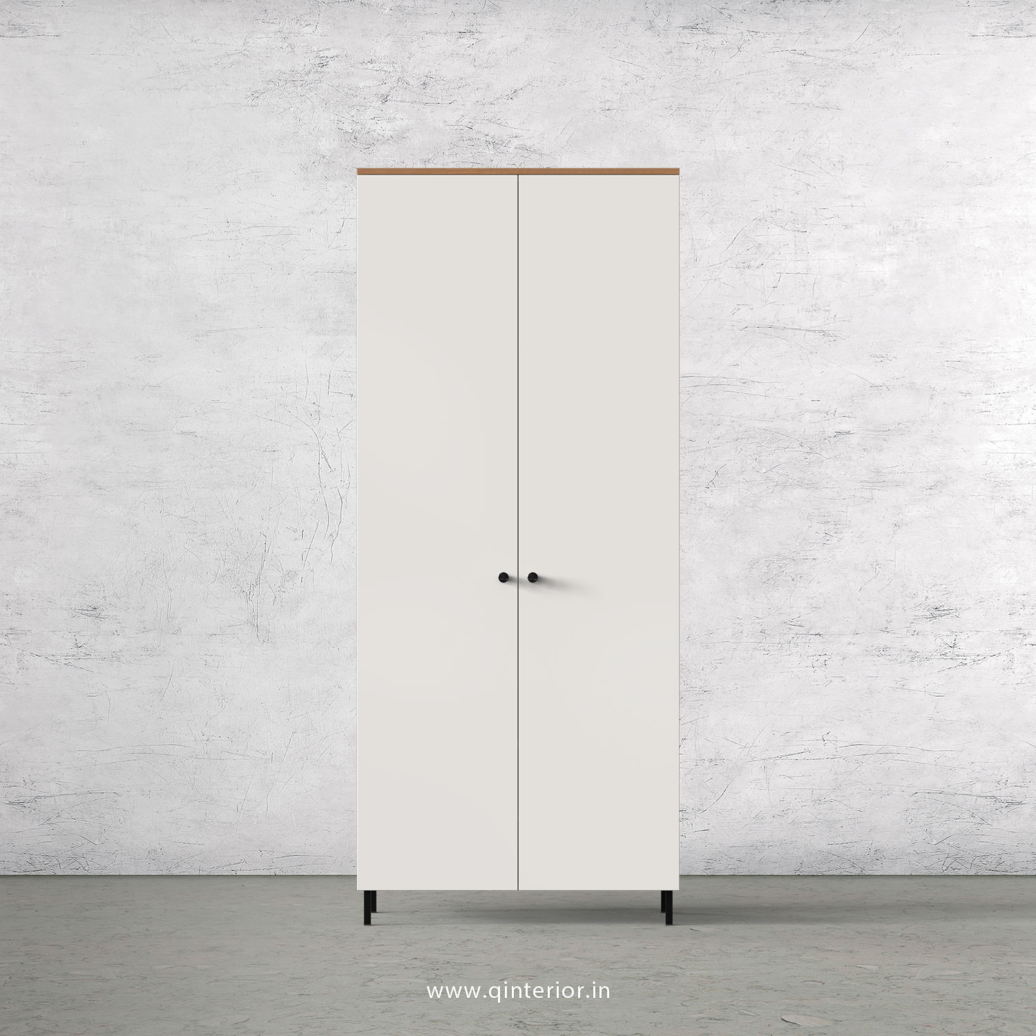 Lambent 2 Door Wardrobe in Oak and Pale Grey Finish – DWRD001 C10