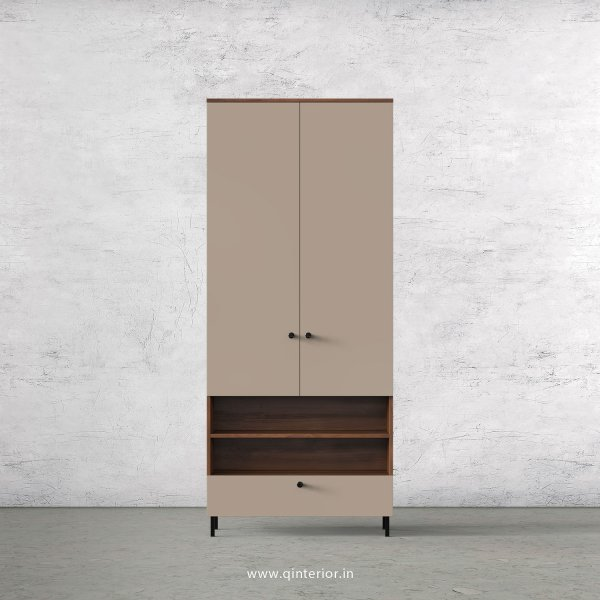 Lambent 2 Door Wardrobe in Teak and Cappuccino Finish – DWRD040 C20
