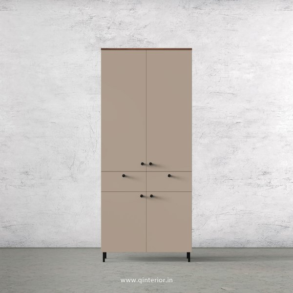 Lambent 2 Door Wardrobe in Teak and Cappuccino Finish – DWRD014 C20