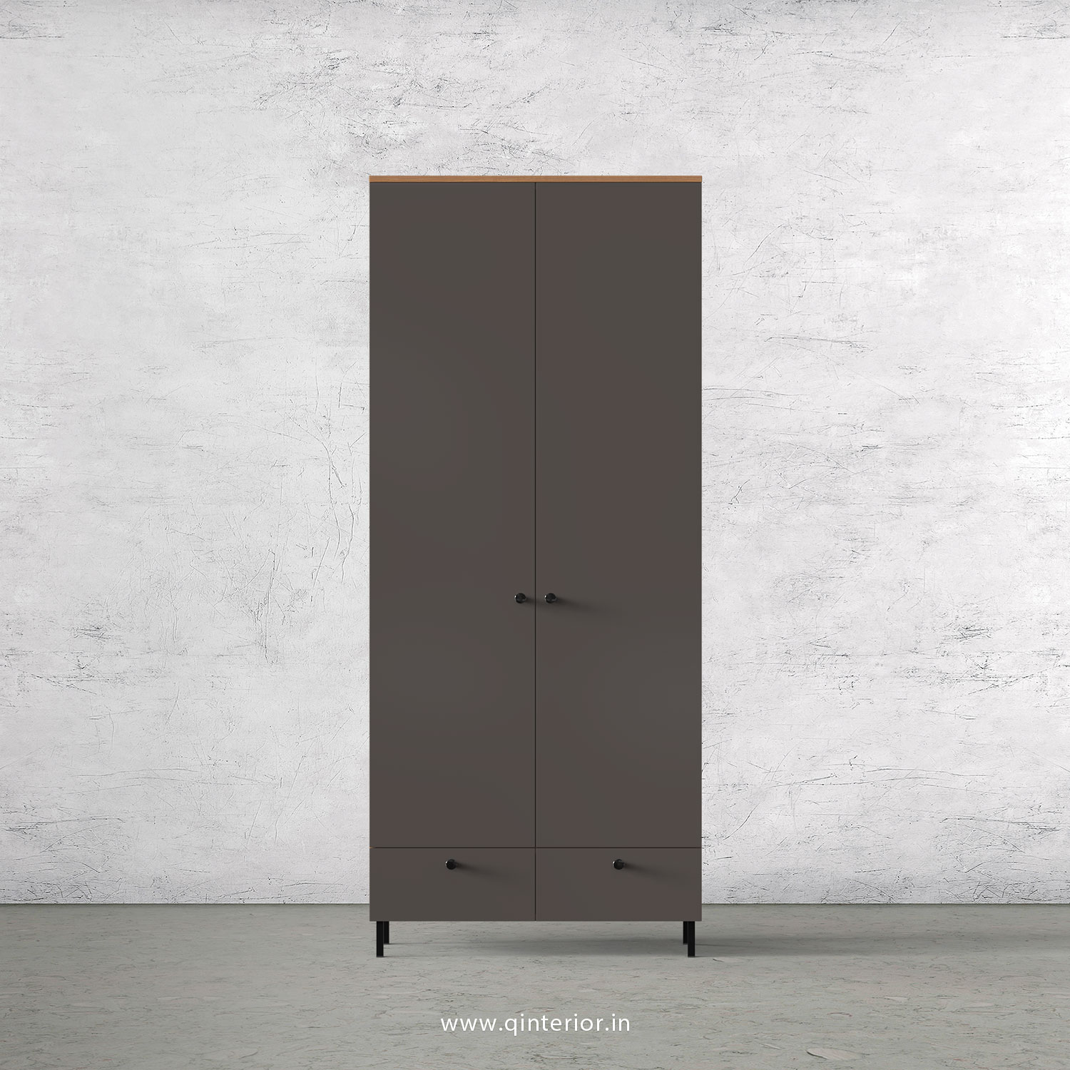 Lambent 2 Door Wardrobe in Oak and Slate Finish – DWRD002 C19